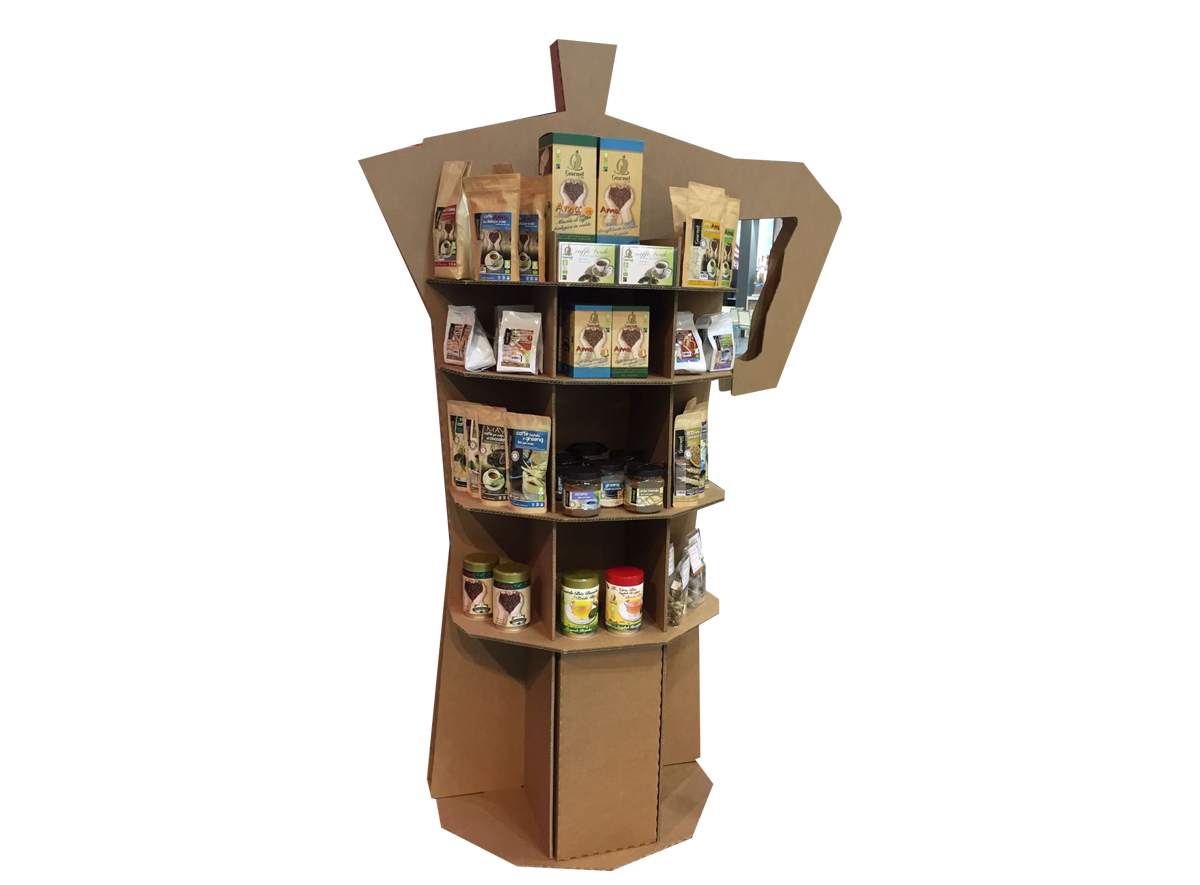 Customized cardboard display stands