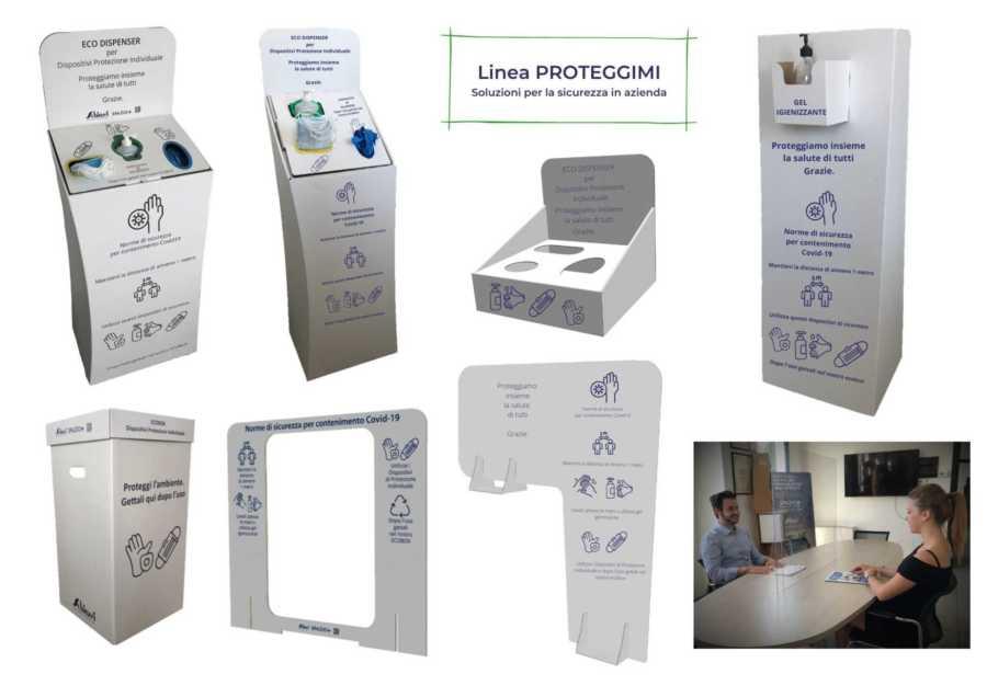 dispositivi di protezione in cartone