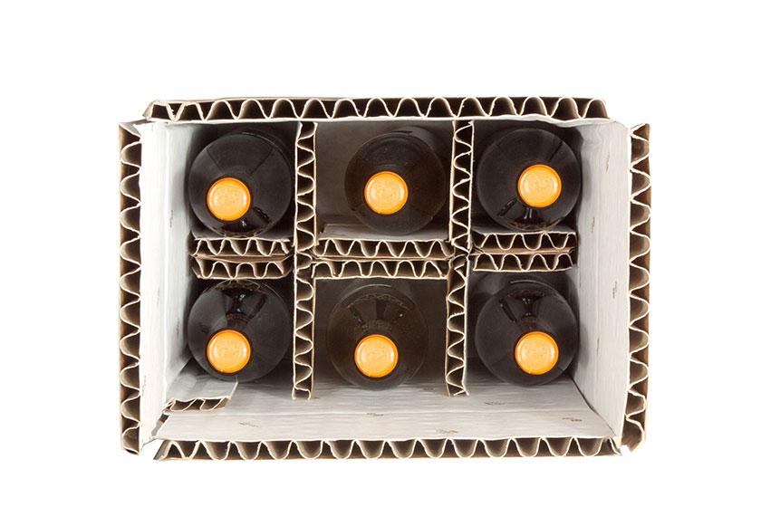 Imballaggio interno cartone per bottiglie